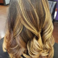 Lovely #balayage by Nadia at our Fossil Creek location. 8178475900 #salonpurple #teampurple #purpleworld #ombre #blonde