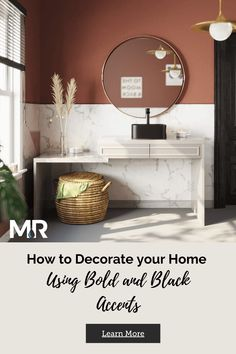 Top designers are using dark and bold details to add depth and dimension to homes around the country.Incorporating black and bold accents into your home can update your décor and revitalize your home with very little work. The time is now to take a risk and be a little bold with your style! Incorporate black and bold accents into your home this year to bring out the depth and personality of your space.  Here's how to make these dark tones look stylish in your home. #homedecor #homeremodel Home Decor Trends, Home Decor Items, Decor Ideas, Sofa Colors, Bookcase Shelves, Modern Masters, Top Designers, Best Interior Design, Master Bathroom