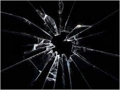 The recognizable and irreplaceable look of broken glass.