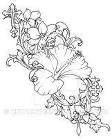 Hibiscus Flower Tattoo by Metacharis