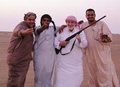 Hunting desert quail with Bedouin friends in the Arabian Desert