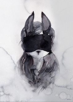 Mrs Mighetto Selected 'Ruby Li' Limited edition watercolour art print - 50x70cm