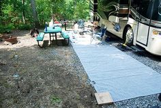How to Set Up your RV CAMPSITE - information on best site, equipment, things to make it comfortable...