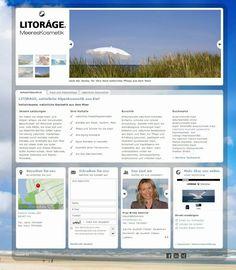 Web Visitenkarten Fördeagentur: LITORÀGE. MeeresKosmetik