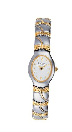 Bulova Womens 98T52 GoldTone Dragonfly Bracelet Watch -- Want additional info? Click on the image.