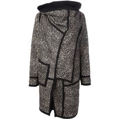 ANTONIO MARRAS reversible coat (4.065 BRL) ❤ liked on Polyvore featuring outerwear, coats, pattern coat, antonio marras, print coat, wool blend coat and reversible coat