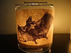 Halloween Vampire Bat votive candle holder by MYSTICALLYENCHANTING, $5.50