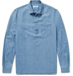 VALENTINO Washed-Denim Shirt. #valentino #cloth #casual shirts