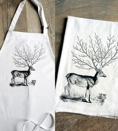 Woodland Deer Kitchen Apron + Tea Towels by The Coin Laundry available at Scoutmob now. The place to get inspired goods by local makers. Kitchen Aprons, Kitchen Sink, Work Aprons, Linen Apron, Christmas Tea, Textile Patterns, Textiles, Cozy Cabin, Cute Mugs