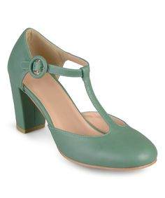 Look at this Journee Collection Green Talie T-Strap Pump on #zulily today!