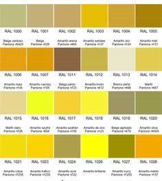Colores RAL - Pinar SA : Carta de colores RAL en español
