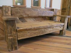 Holy cow i need this! Holy cow i need this! The post Reclaimed Wood Bench. Holy cow i need this! appeared first on Wood Diy. Barn Wood Projects, Reclaimed Wood Projects, Repurposed Wood, Salvaged Wood, Reclaimed Wood Benches, Rustic Bench, Reclaimed Wood Furniture, Rustic Furniture, Chunky Wooden Garden Furniture
