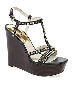 So in love with these Michael Kors wedges. The studs...the leather...the craftsmanship.
