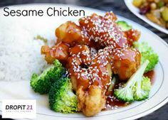 """This recipe is great for a quick and tasty mid-week meal. The whole family will enjoy this 'fake-away"""", the crunchy texture of the chicken is a little reminiscent of chicken nuggets but without all of the added extras that commercially produced food includes. The sweet/salty sauce really brings this dish together as a delicious meal you'll make time and time again. #glutenfree #dairyfree #paleo #fakeaway #healthyliving #cleaneating"""