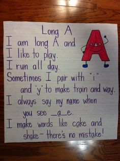 long a, intervention ideas. I would probably want to use a different color marker for the letter pairs that make the long a sound.