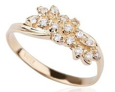"""art nouveau style: """" crafted of quality gold and decorated with 15 small diamonds mounted into a hand made gold plate."""""""