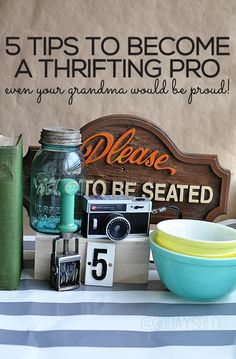 5 tips for thrifting like a pro. decorate your home for less by getting great thrift store finds!