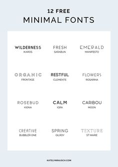 12 free minimal fonts perfect for any design project! - 12 free minimal fonts perfect for any design project! 12 free minimal fonts perfect for any design project! Font Design, Graphic Design Fonts, Graphisches Design, Identity Design, Brand Identity, Minimal Font, Minimal Logo Design, Minimalist Design, Minimal Style