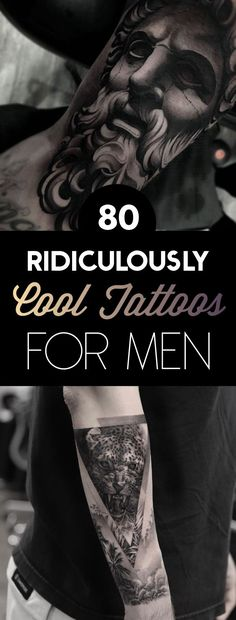80 Ridiculously Cool Tattoos For Men - Inked - Tatoo Ideen Unique Tattoos For Men, Cool Tattoos For Guys, Cool Tats, Creative Tattoos, Trendy Tattoos, Tatto For Men, Religious Tattoos For Men, Tattoo Designs For Men, Dark Tattoos For Men