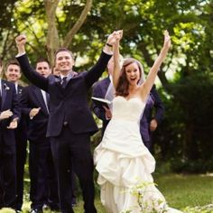 Hooray! We did it! 30 Awesome Recessional Songs for your joyous walk back down the aisle as newlyweds. (photo via Style Me Pretty)