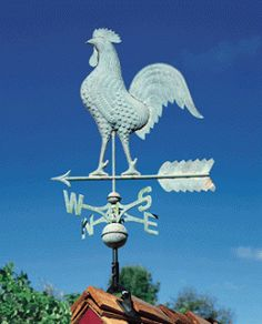 Copper Rooster Weathervane from Whitehall Fine Accents for the Home (made in Montague, MI). Fun fact: The largest weathervane in the world is in Montague Michigan and was manufactured by Whitehall Products. Poultry Business, Poultry Supplies, Lightning Rod, Whitehall Products, Rooster Decor, Weather Vanes, Chickens And Roosters, Galo, Down On The Farm