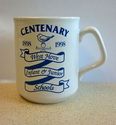 MUG - COLLECTABLE CERAMIC - WEST HOVE INFANT AND JUNIOR SCHOOLS 1898 - 1998