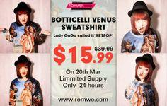 Tudo Que Gosto e Muito Mais: ROMWE ❤Botticelli's Venus Sweatshirt,Only $15.99 o...