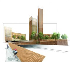 MGA Proposes World's Tallest Wood Building in Paris