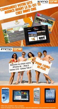 Commandez votre site agence avant le 31/07/12 chez Immo One et recevez votre Tablette pour 1 euro de plus.