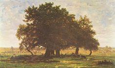 Ecole de Barbizon - Théodore Rousseau - Les Chênes d'Apremont