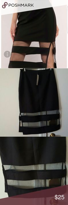 NWT🔖Tobi Clear Sights Mesh Midi Skirt ✔Black Mesh Midi Skirt ✔New with Tag🔖 ✔In good condition Tobi Skirts Midi