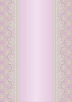 Vintage Lace Panel A4 Background Pink on Craftsuprint designed by Karen Adair - This is a pretty A4 sized background with a lace edged central panel. Great to line the outside of an A5 sized landscape tent card, or as an insert. Or whatever else you can think of! If you like this, check out my other designs, just click on my name. - Now available for download!