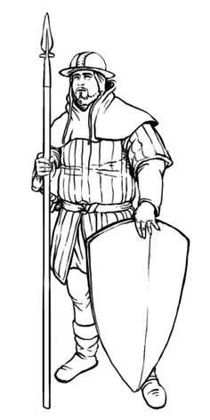Aalban (Principality of; Glantri) or Hattias (Co. Thyatis [Empire of]) area(s)/region(s) [Einfacher Waffenknecht] Military Units, Historian, Danish, Medieval, Sketches, Europe, Fantasy, Modern, Inspiration