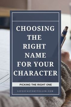 Naming your character can be more difficult than developing him or her completely. Check out this resource on how to pick the right name for your character. writing tips | writing resources | character development