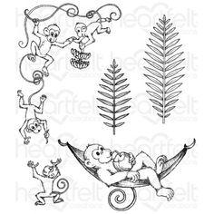 Apinatemput Cling Stamp Set