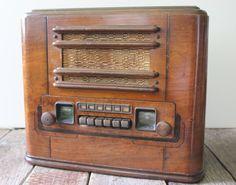Antique Radio Mid Century Radio Coronado by ArtAntiquesSalvage