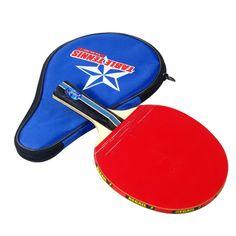 Dài Tay Cầm Rung-tay Bảng Tennis Racket Ping Pong Paddle + Túi Chống Thấm Nước Pouch Red Bàn Trong Nhà Tennis Phụ Kiện
