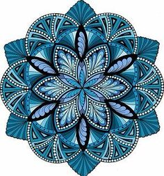 Mandala with simple fills