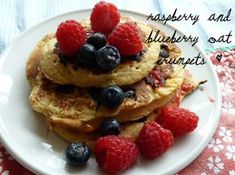 For as long as I can remember, crumpets have been my deliciously indulgent go-to treat for weekend brunch. Blueberry Oat, Crumpets, Raspberry, Brunch, Yummy Food, Treats, Baking, Breakfast, Recipes
