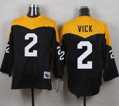 a258219ecb2 Pittsburgh Steelers Jersey 2 Michael Vick Black Yelllow Mitchell And Ness  1967 Throwback Men s Stitched NFL Jerseys
