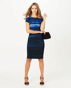Phase Eight Annika Ombre Dress Blue