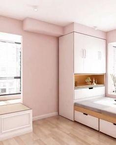 Small Room Design Bedroom, Small House Interior Design, Wardrobe Design Bedroom, Bedroom Furniture Design, Girl Bedroom Designs, Home Room Design, Bedroom Decor, Kids Wardrobe, Modern Wardrobe