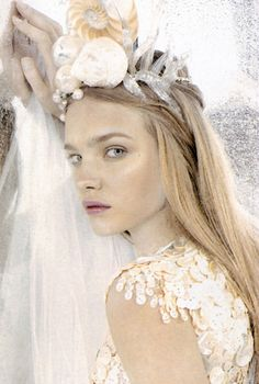 The Look: Vertical Water Natalia Vodianova by Karl Lagerfeld for Numero April 2003 Natalia Vodianova, Mario Testino, Ellen Von Unwerth, Tim Walker, Steven Meisel, Karl Lagerfeld, Magazine Mode, Tiaras And Crowns, Patrick Demarchelier
