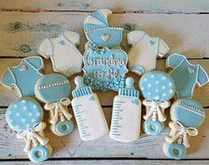 Ideas Baby Reveal Food Sugar Cookies For 2019 Baby Shower Activities, Baby Shower Themes, Baby Boy Shower, Shower Ideas, Baby Boy Cookies, Baby Shower Cookies, Heart Cookies, Cake Baby, Gateau Baby Shower
