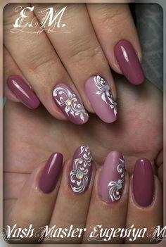 "In Moda For Me: Uñas siempre a la moda "" Pinky nails "" Pink Nail Art, White Nail Art, Pink Nails, Glitter Nails, Fingernail Designs, Gel Nail Designs, Stylish Nails, Trendy Nails, Fancy Nails"