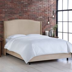 Found it at Wayfair - Cora Polyester Upholstered Panel Bed