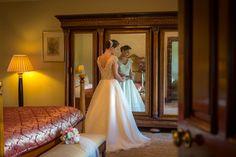 Honeymoon Suite at Glenlo Abbey Hotel Galway Vintage wedding dress - wedding venues galway