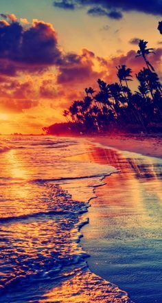 Amazing beach. Awesome iPhone Wallpapers Colorful Nature Scenery View. Check out…