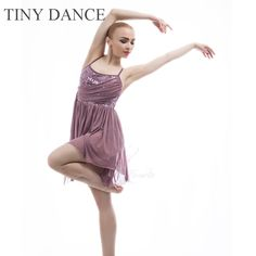 23b0b7138a9e US $33.0 |17303 Child and Adult Purple Grey Lyrical & Contemporary Dance  Costume Sequin Lace Camisole Dress for Performance 11 Sizes -in Ballet from  Novelty ...