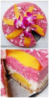 Raw cake, so pretty, need a translator.